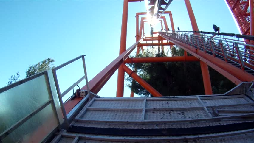 Point of view riding a roller coaster