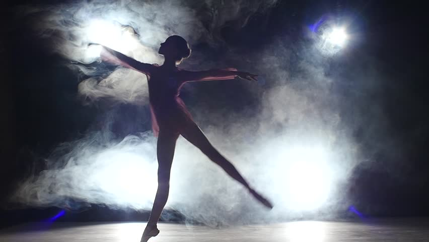 Artistic Dancer Into Dry Ice Super Slow Motion