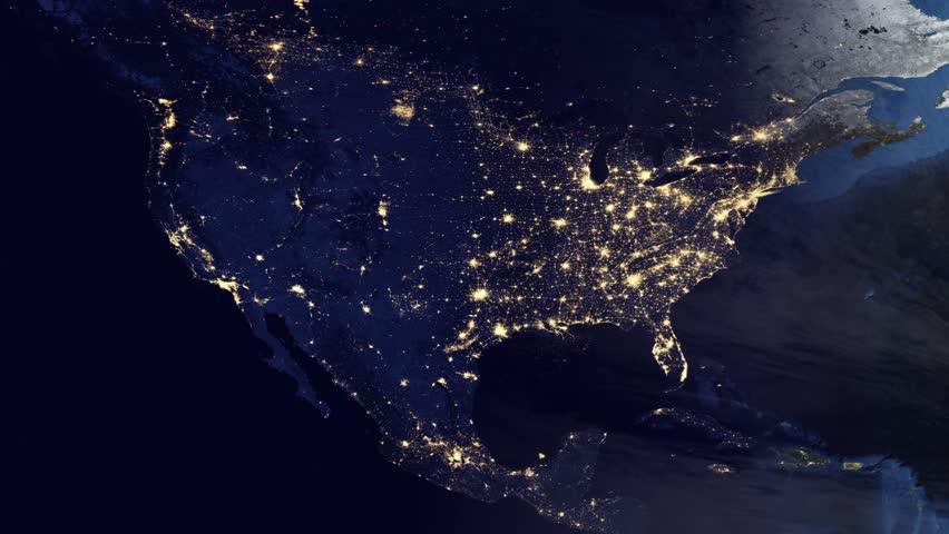 footprint north america nasa night light - photo #14