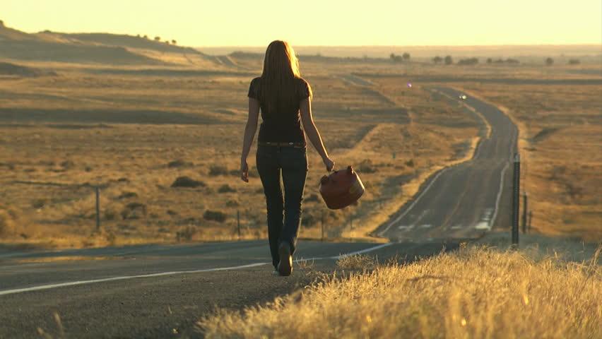 Woman walking in barefeet stock photo. Image of happy
