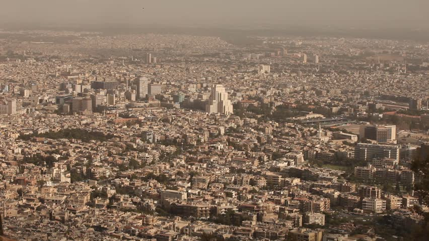 Damascus city view, Syria, before the civil war. | Shutterstock HD Video #11697899