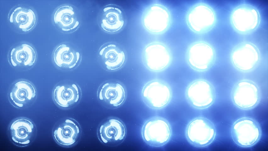 Stage lights. Close-up. Floodlights shining brightly and turning on and off. Blue. More color options in my portfolio. #11740529