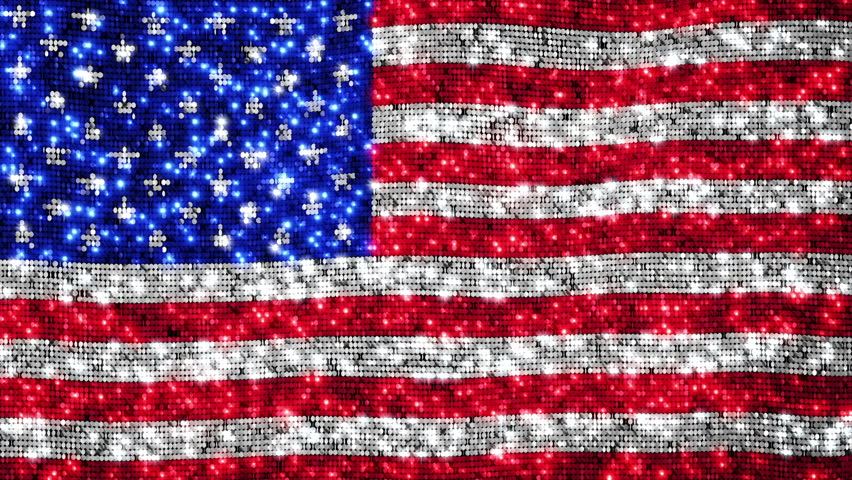 American flag. Sequins. Loopable from frame 300 to frame 599. Zoom out. More options in my portfolio.