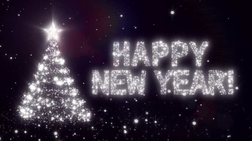 Happy New Year. Christmas Background Stock Footage Video (100 ...