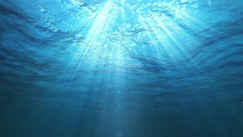 Underwater Sun Rays in the Ocean (Loop) | Shutterstock HD Video #11752739