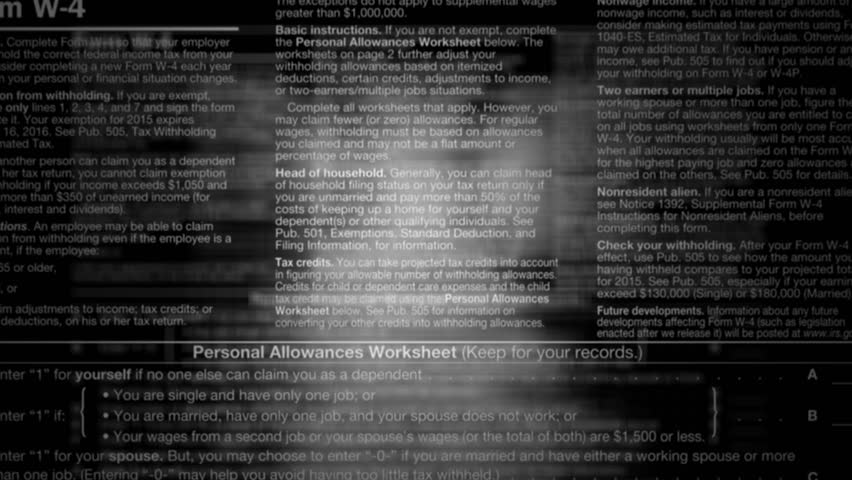 Under The Magnifying Glass Close Up Of The 1040 Income Tax Return – Irs Personal Allowance Worksheet