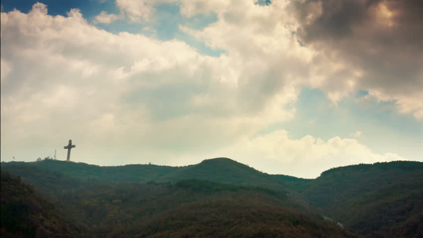 Looping landscape, Hd. A scene in Vodno hills with time lapsed clouds passing overhead.