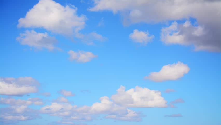 time lapse of soft clouds in the blue sky #11883869