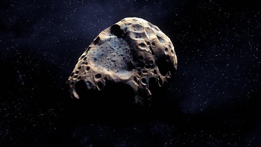 Meteorite tumbling toward the camera 1080
