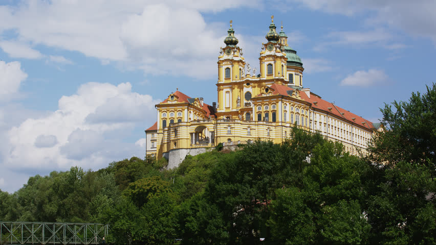 T/L WS Melk Abbey on sunny day / Austria, 01/01/2013