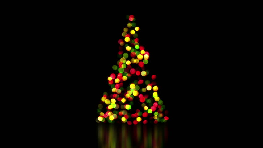 Colorful Christmas Tree Lights Out Stock Footage Video (100% Royalty ...