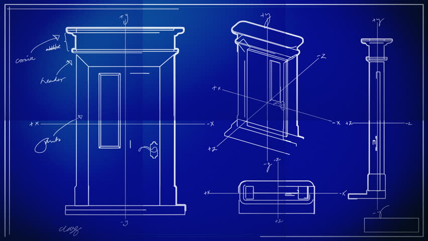 Door Technical Drawing Blueprint Time Stock Footage Video (100%  Royalty-free) 1197109 | Shutterstock