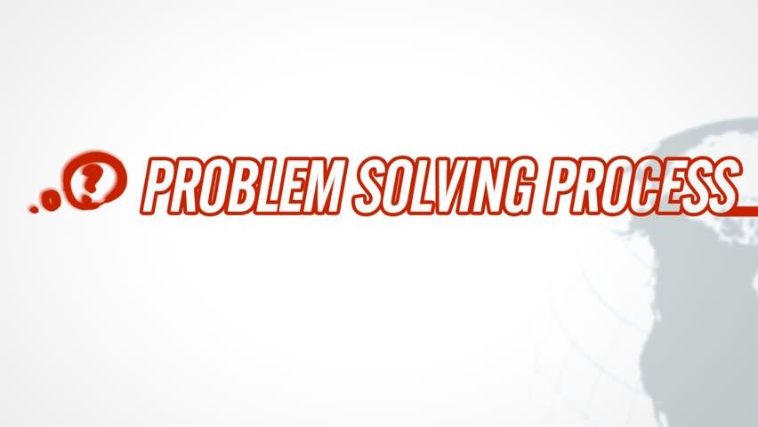 Problem Solving Process video illustration on white in HD (1920x1080 pixels, 30 sec)  | Shutterstock HD Video #1204519