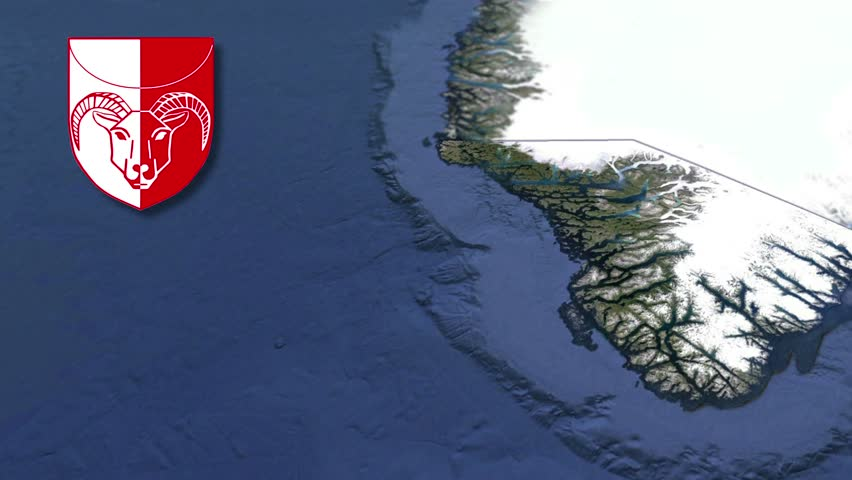 Kujalleq whit Coat of arms animation map Administrative divisions of Greenland