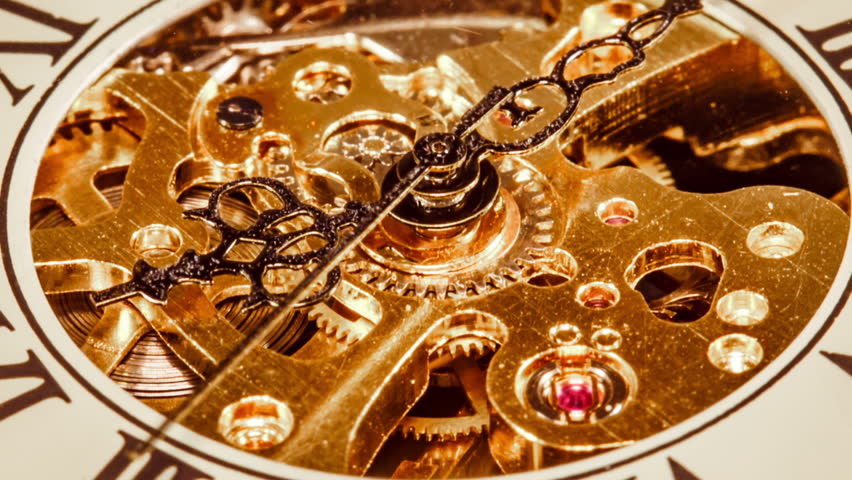 Antique clock dial close-up. Vintage pocket watch. | Shutterstock HD Video #12153749