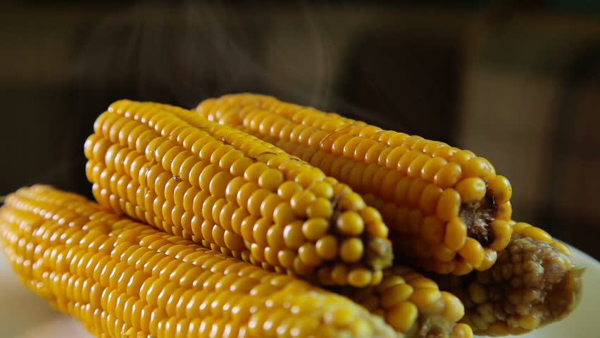 Sweet corn boiling stock footage video 2750375 shutterstock fresh boiled corn on a plate close up 2 hd stock video clip ccuart Choice Image