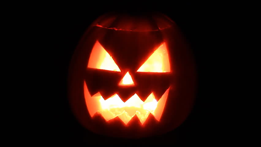 Funny Halloween Pumpkin Face with Stock Footage Video (100% Royalty,free)  12214019