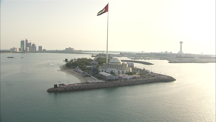 Aerial Abu Dhabi Coastline | Shutterstock HD Video #12220589