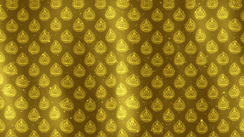 thai art background gold stock footage video  100  royalty