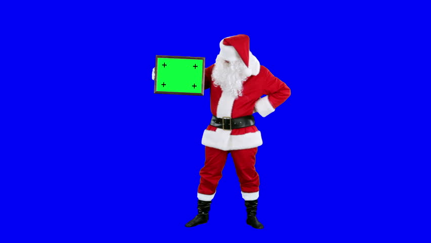 Santa Claus Demonstrates Frame For Stock Footage Video 100 Royalty Free 12248189 Shutterstock