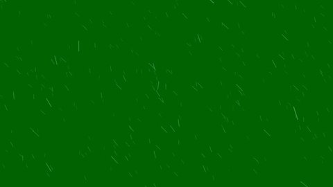 Windy Rain on a Green Screen Background Animation