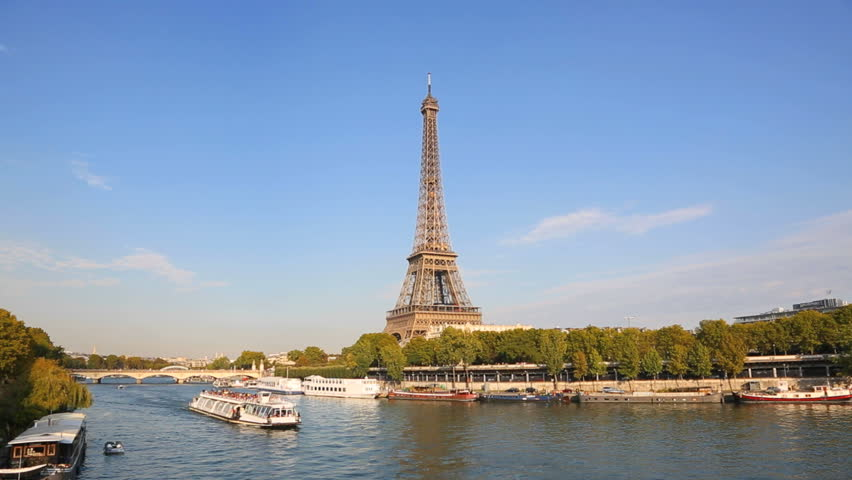Paris, Tourboat on the Seine river, HD (1920X1080, 25 fps) | Shutterstock HD Video #12318059