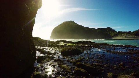 New Zealand Black Sand Beach