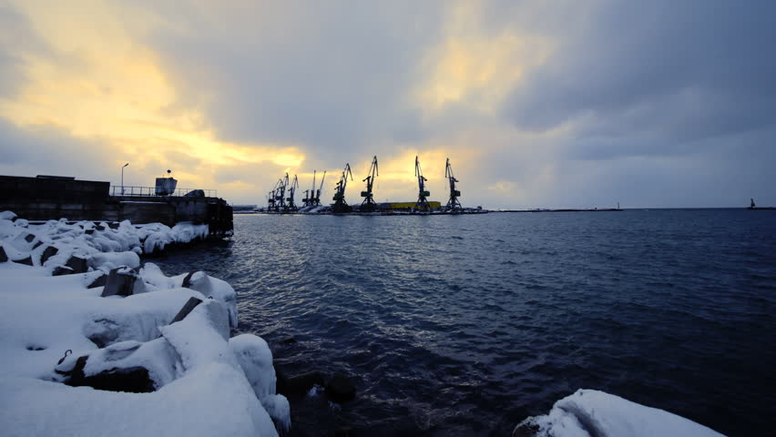Seaport in the Sakhalin island