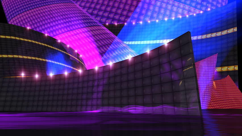 This disco stage video is for music video production,it also can be use to edit or motion graphic clips. For example ,CG set , virtual background, music channel, dance theme editing etc .