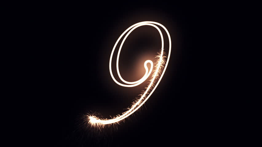 Number 9 written with holiday lights | Shutterstock HD Video #12512429
