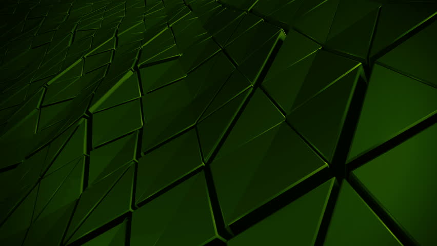 Loopable 3d rendered abstract waved surface made of extruded triangle shapes with shadows and speculars | Shutterstock HD Video #12526139