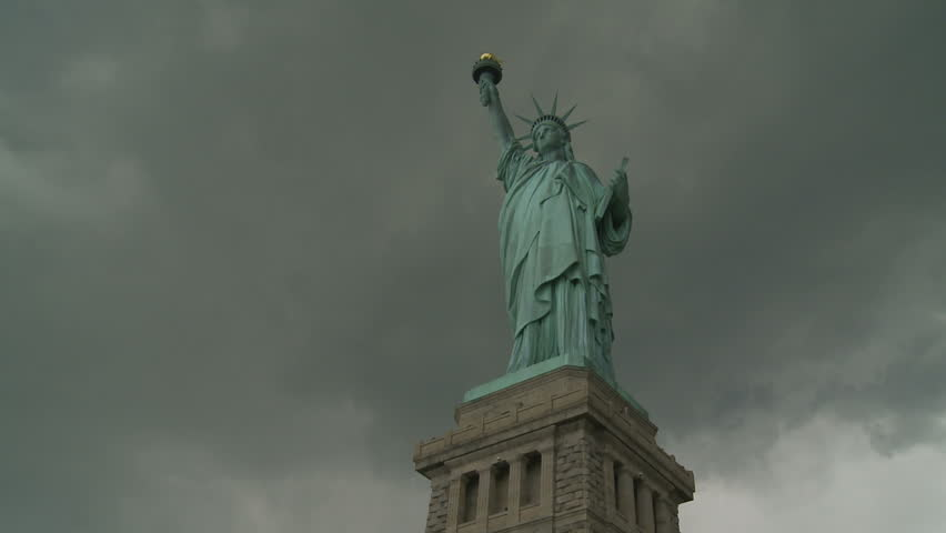 Statue of Liberty on stormy day. New York, USA. 2010. | Shutterstock HD Video #12540527