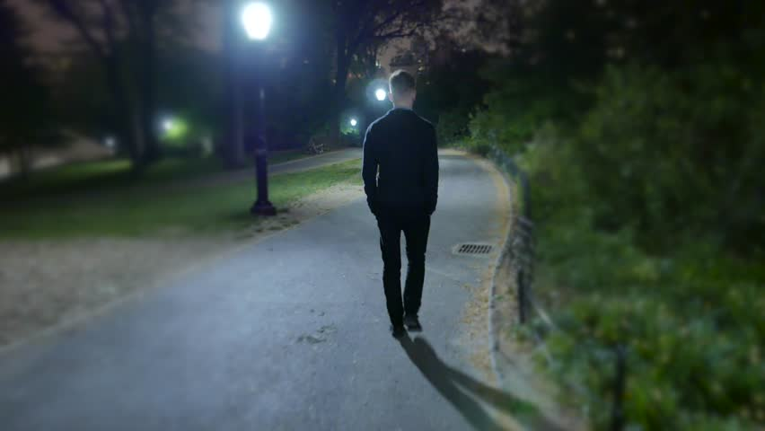 Think, that man walking down the street at night cannot