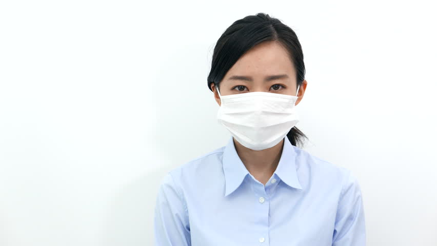 Footage Sick Young With 12550829 100 Video Shutterstock Royalty-free Mask Woman Stock