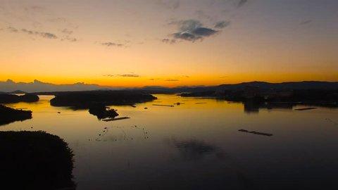 Ago Bay at sunset Shima, Mie, Japan