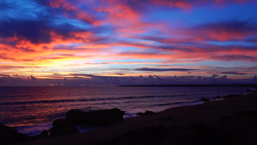 Albufeira, Praia da Gale at sunset - Timelapse, Algarve, Portugal