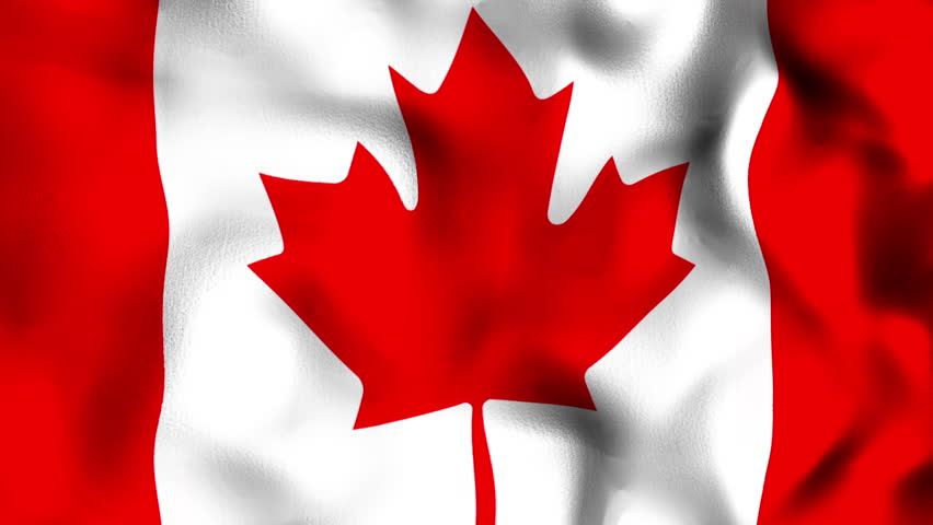 Canadian Close Up Waving Flag - HD Loop Stock Footage ...
