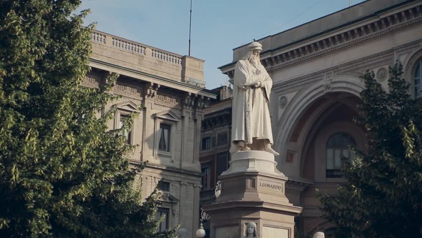 Statue of Leonardo da Vinci in the Milan #12619559