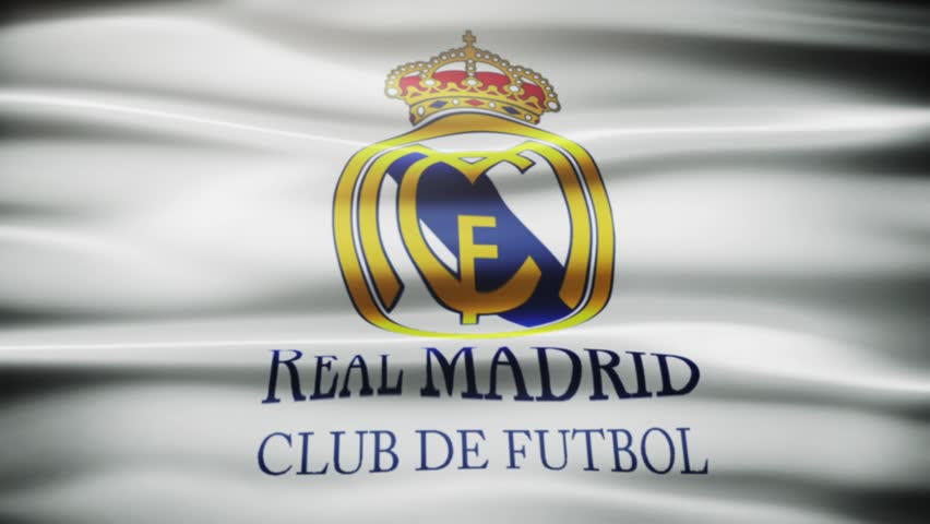 Madrid , Spain - 30 October 2015 - Animated logo of Spanish football club Real Madrid C.F.