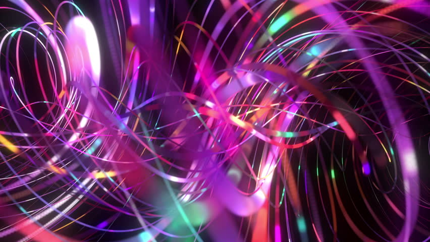 spiral promo christmas lights colorful abstract blur trails timelapse stock