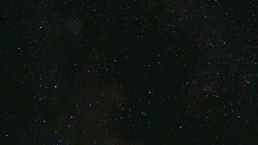 Time lapse of night sky with stars and Milky way