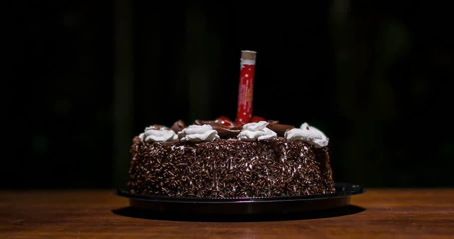Chocolate Cake Images With Candles : Chocolate Cake With Candles To Celebrate The Birthday ...