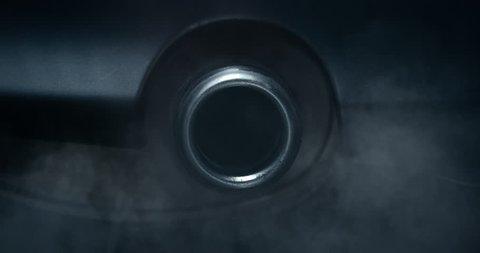 Exhaust tailpipe blows carbon monoxide gas