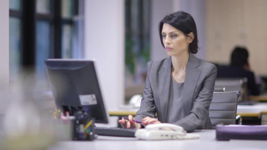 Working Late Office Ladies