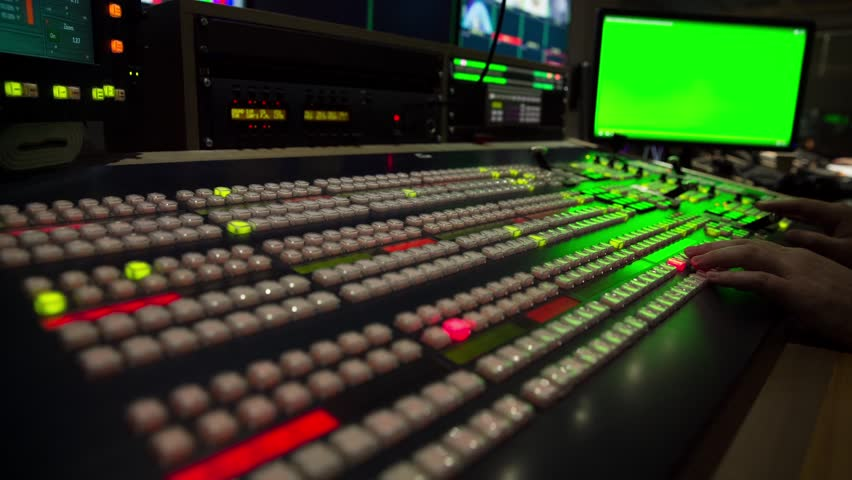 Broadcast Tv Studio Production - Vision Switcher  Studio Director broadcast video mixer operation - Close-up of hand | Shutterstock HD Video #12830795