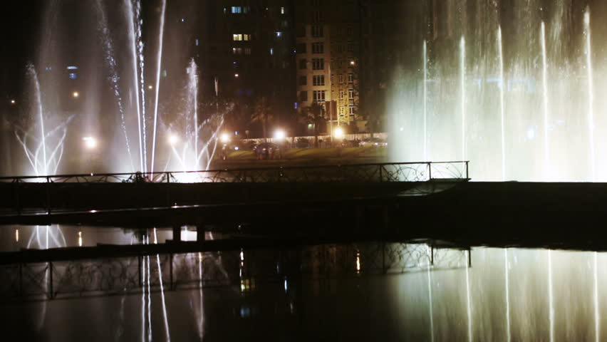Shooting night dancing fountain in Batumi | Shutterstock HD Video #12833969