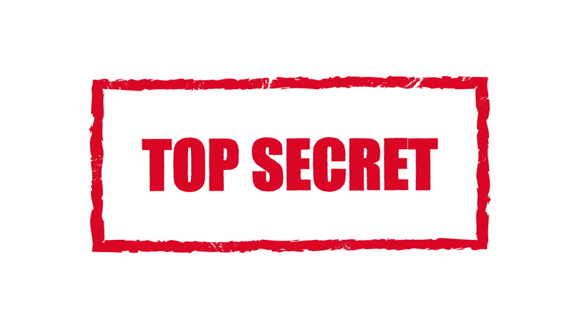 Top Secret Stamp Stock Video Footage