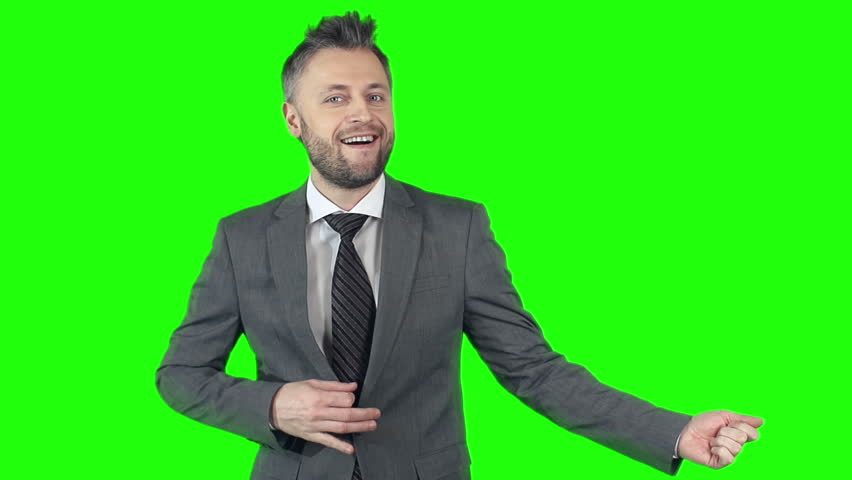 Excited Businessman Pretending to Play Stock Footage Video (100%  Royalty-free) 12861059 | Shutterstock