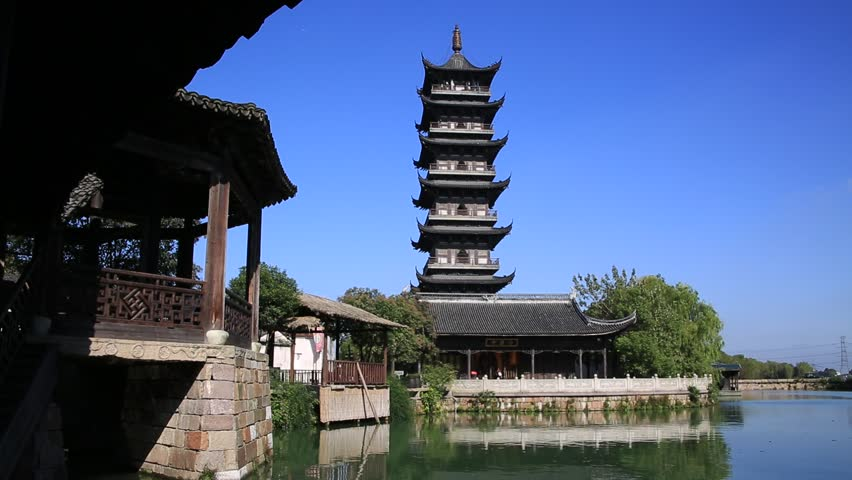 wuzhenchina_nov06 2015 traditional temple at wuzhen water village in - Traditional Castle 2016