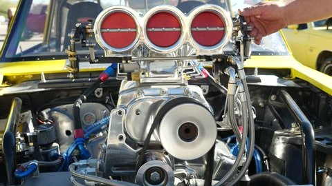 Running race car engine